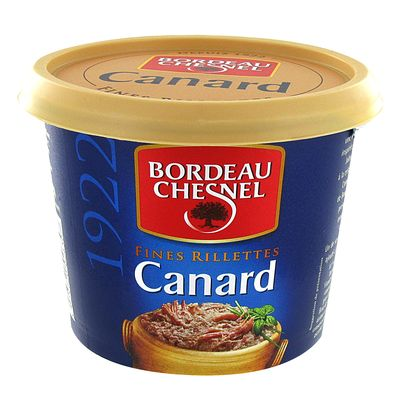 Rillettes de canard BORDEAU CHESNEL, 220g