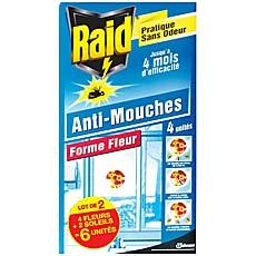 Raid stickers anti-mouches x6