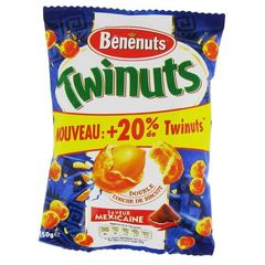 Cacahuetes enrobees saveur Mexicaine Twinuts BENENUTS, 150g