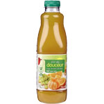P'tit déj douceur - Jus multifruits Jus d'orange, clémentine et raisin blanc.