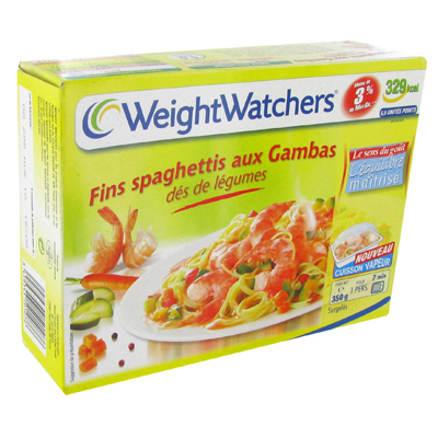 Spaghettis, gambas et des de legumes WEIGHT WATCHERS, 350g