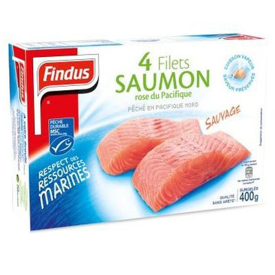 Filets de saumon rose du Pacifique FINDUS, 4x100g