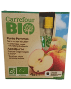 Puree de fruits bio, pommes