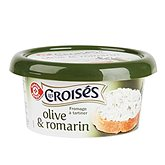 Fromage à tartiner Les Croisés Olives/romarin - 25% MG 150g