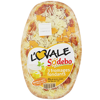 Pizza aux 3 fromages fondants - L'Ovale