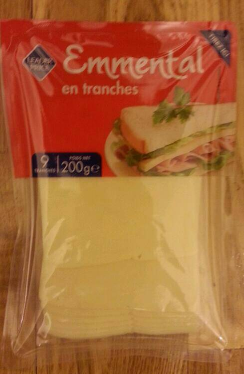 Emmental en tranches, 9 tranches 200g