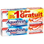 Aquafresh dentifrice blancheur et brillance 2x75ml