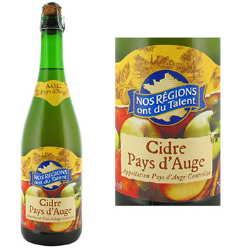 Cidre pays d'auge 4.5%vol Nos Regions ont du Talent 75cl