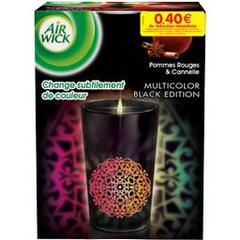Air Wick, Colours of Nature - Bougie Black Edition pomme rouge/cannelle, la bougie