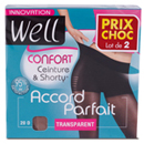 Well collant accord parfait transparent miel taille 3 x2