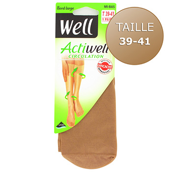 Mi-bas circulation Actiwell WELL, taille 39/41, ibiza