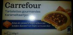 Biscuits tartelettes caramel beurre sal Carrefour