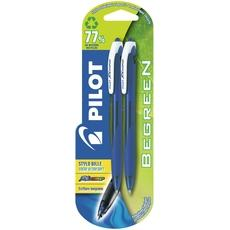 Stylo bille retractable Rexgrip Begreen PILOT, 2 unites, bleu