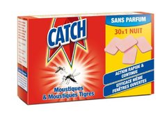 Catch - 6100 - Tablette Recharge Anti-Moustiques 30 x 1 Nuit - Lot de 2