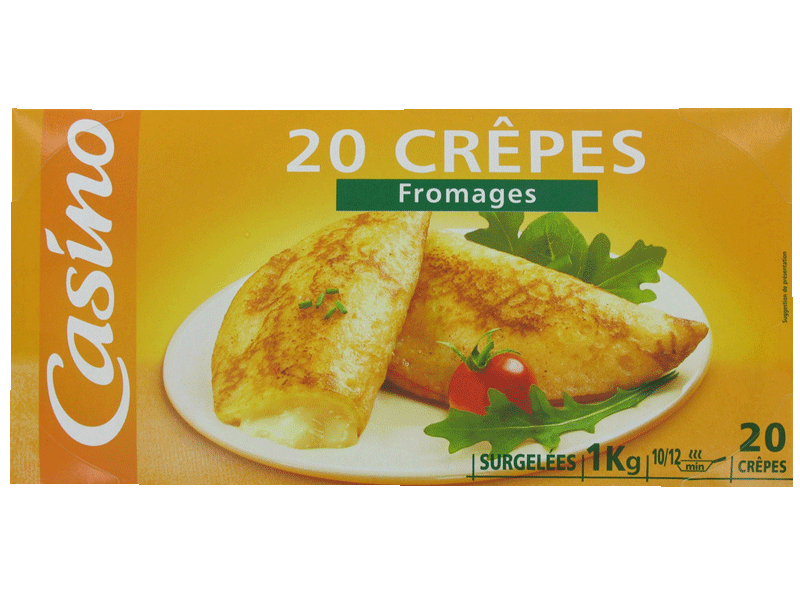 20 crêpes fromage 1kg
