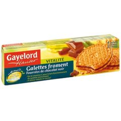 Gayelord Hauser galettes froment chocolat noir 180g