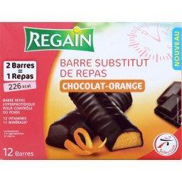 regain barre substitut de repas chocolat orange les 12 barres de 30g tous les produits. Black Bedroom Furniture Sets. Home Design Ideas