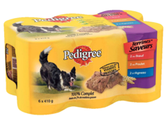 Pedigree terrine saveur 3 varietes 6x400g