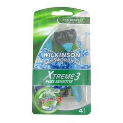 Rasoirs jetables Xtreme 3 Pure Sensitive WILKINSON, 4 unites