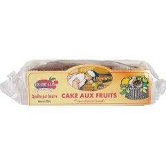 Cake aux fruits, qualite pur beurre, fabrication artisanale, le paquet de 350g