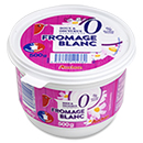 Auchan fromage blanc frais nature 0%mg 500g