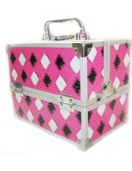 Arustino St Tropex Locking Beauty Case With Trays Pink Diamond