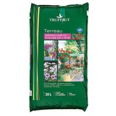 Terreau plantes fleuries/geraniums 20 L