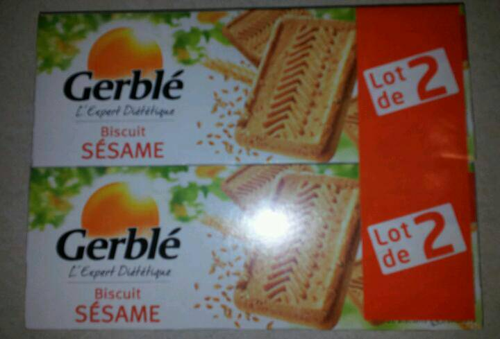 Biscuits Gerble sesame 2x230g