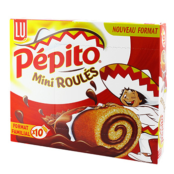 PEPITO mini roules au chocolat, 10 pieces