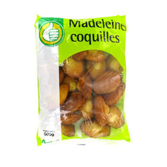 Pouce madeleines coquilles 500g