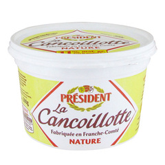 Cancoillotte nature ua lait pasteurise PRESIDENT, 6,5%MG, 500g