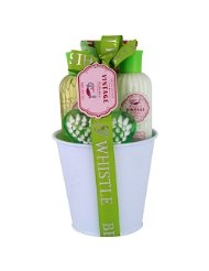 Gloss! Pack de 4 Pot de Bain Vintage Green Rose et Vanille