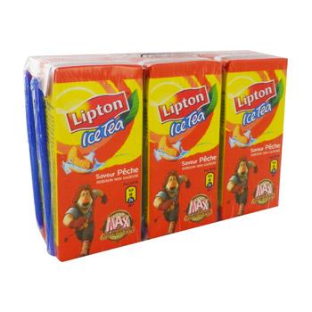 lipton ice tea p che 6 briquettes de 20cl tous les produits boissons plates th s glac s. Black Bedroom Furniture Sets. Home Design Ideas