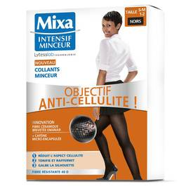 Collants minceur anti-cellulite T S-M 1-2, noir