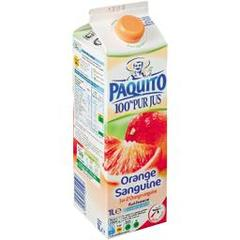 Paquito, Jus d'orange sanguine 100% pur jus, la brique de 1 l