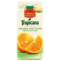 jus d'orange avec pulpe tropicana 1.5l
