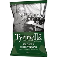 Tyrrells Hand Cooked English Crisps - Sea Salt & Cider Vinegar (150g)