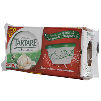 Fromage ail fine herbe Tartare 70%mg 2x150g