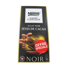 Nestle grand chocolat éclat noir fèves de cacao 100g