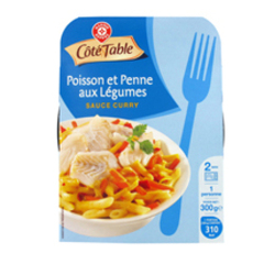 Duo colin saumon Cote Table Penne 300g