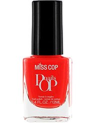 Miss Cop Vernis à Ongles Pop Nails Corail 12 ml - Lot de 2