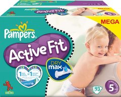 Pampers - 81212867 - Active Fit Couches - Taille 5 Junior (11-25 Kg) - Megapack X93 Couches