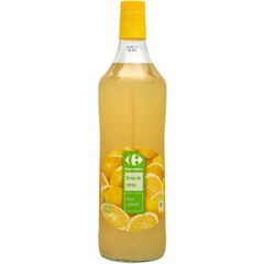 Sirop de citron, sans colorant