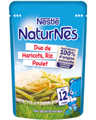 Naturnes duo haricots verts poulet