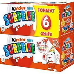 Kinder surprise mixte lot de 2 boite de 3 oeufs 120g