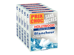 Hollywood blancheur menthe polaire sans sucres pentapack 5x10 dragees