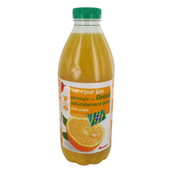 Pur jus d'orange du Bresil Avec Pulpe - Naturellement doux