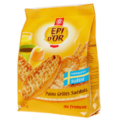 Pains grilles Epi d'Or suedois Froment 225g