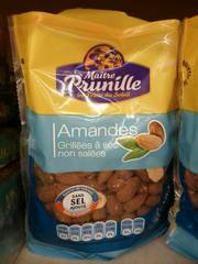 Amandes grillees non salees MAITRE PRUNILLE, 250g