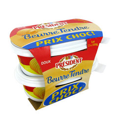 President beurre tendre doux 2x250g